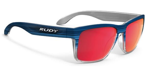 Rudy Project Spinhawk Okulary rowerowe czerwony/niebieski